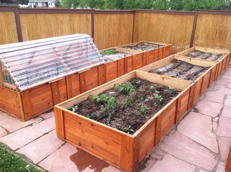 Raised Bed Garden Frames A Raised Bed Garden With Cold Frame And Drip Irrigation Cold Climate