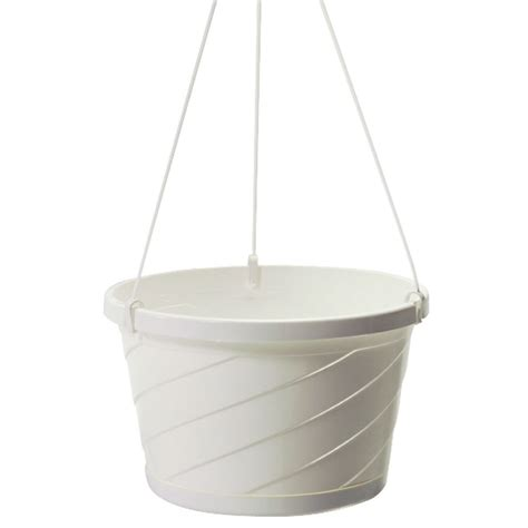 White Hanging Planters by Set Of 12 White Style Hanging Basket Planters