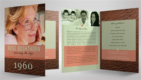 amazing funeral program booklet templates seraphimchris