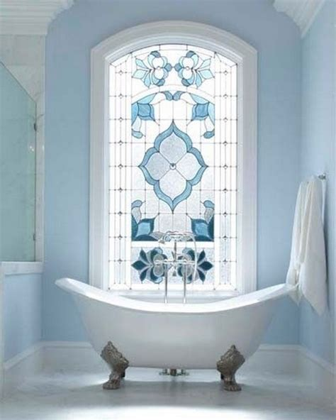 stained glass for bathroom window 24 rooms in blue messagenote