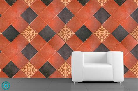 removable tile wallpaper parliment peel stick self removable wallpaper tuscan tile peel stick self