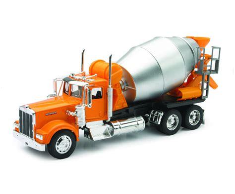 kenworth merchandise 1 32 kenworth w900 cement mixer truck orange trucks