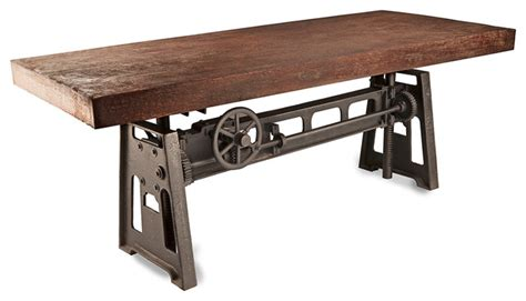 industrial kitchen table furniture gerrit industrial style rustic pine iron dining table