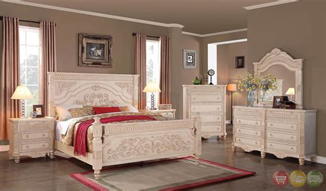 antique white bedroom sets lilly antique traditional distressed antique white panel