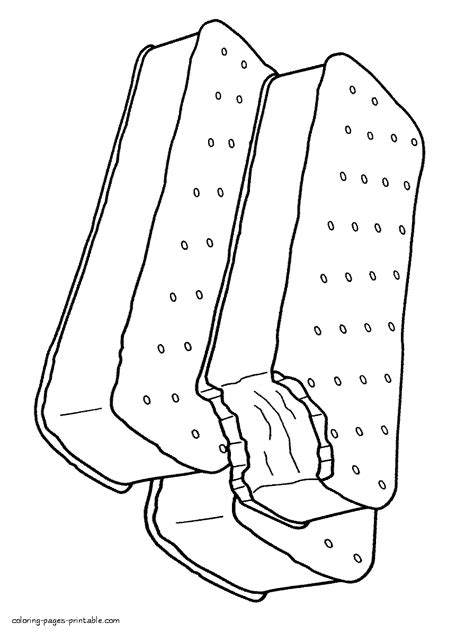 ice cream sandwich coloring page ice cream sandwich coloring page