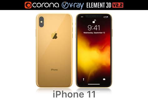 apple iphone xs max gold 3d cgtrader
