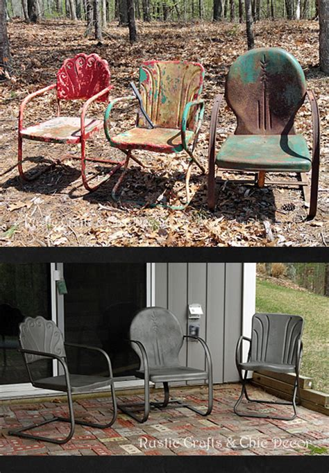 Paint Patio Furniture Metal - how to paint and metal outdoor chairs hometalk