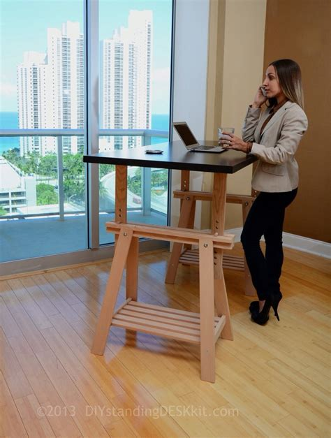 The Height Adjustable Diy Standing Desk Ikea Conversion Kit Standing Desk How To