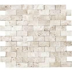 Grouting Kitchen Backsplash Shop Anatolia Tile Ivory Brick Mosaic Travertine Wall Tile