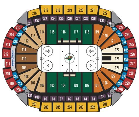 xcel energy center seating map xl center seating chart