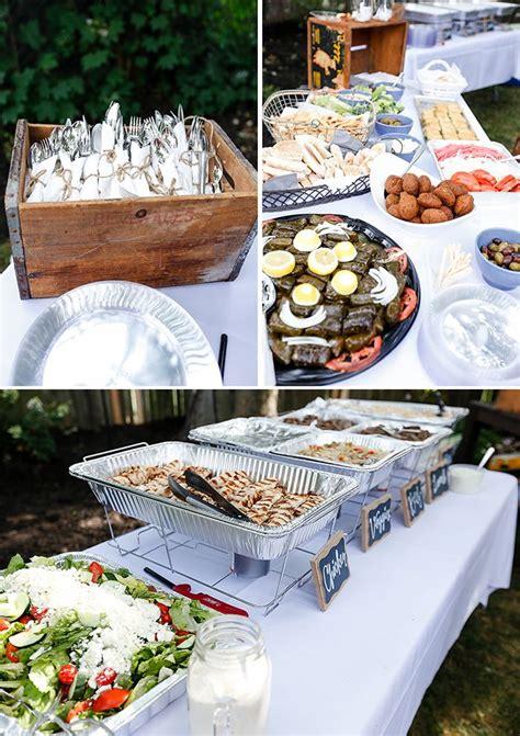 backyard engagement party details  food utensil