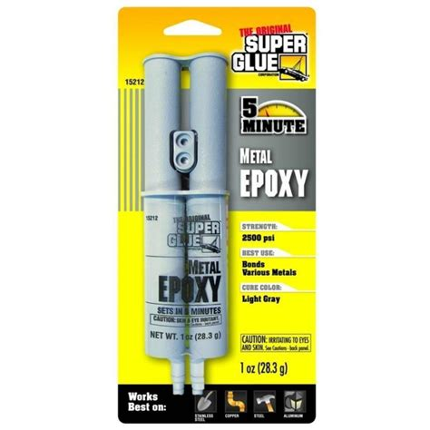 Super Glue Metal Epoxy Bonds Metals 2500psi Repairs Copper