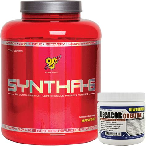 syntha 6 creatine syntha 6 banana 5lb with decacor protein creatine