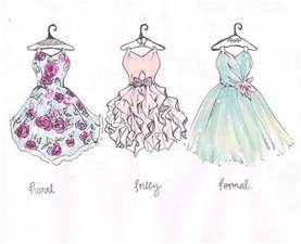 gallery for gt pretty drawings of dresses