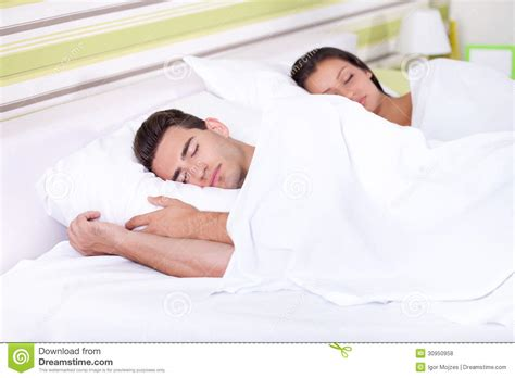 couple sleeping together sweet dreams royalty free stock photos image 30950958