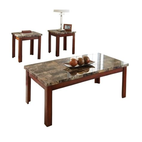 Steve Silver Coffee Table Sets Steve Silver Montibello 3 Coffee And End Table Set In Cherry Mn800