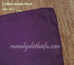 Kain Hicon jilbab segi empat dari bahan hicon rumah jahit haifa