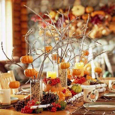 Thanksgiving Table Centerpieces Thanksgiving Decor In Autumn Colors Digsdigs