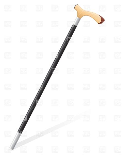 retro walking stick royalty free vector clip art image