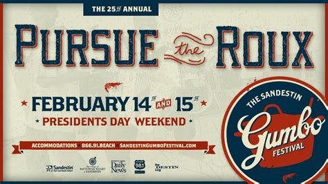 spice up presidents day weekend at sandestin gumbo fest 30a 25th annual sandestin gumbo festival cooking up fun times