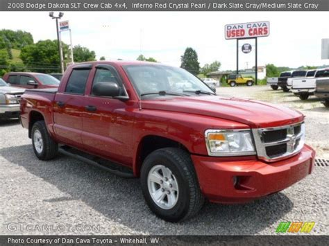 2008 dodge dakota slt crew cab 4x4 in bright silver metallic 519104 nysportscars com cars inferno red crystal pearl 2008 dodge dakota slt crew cab 4x4 dark slate gray medium slate