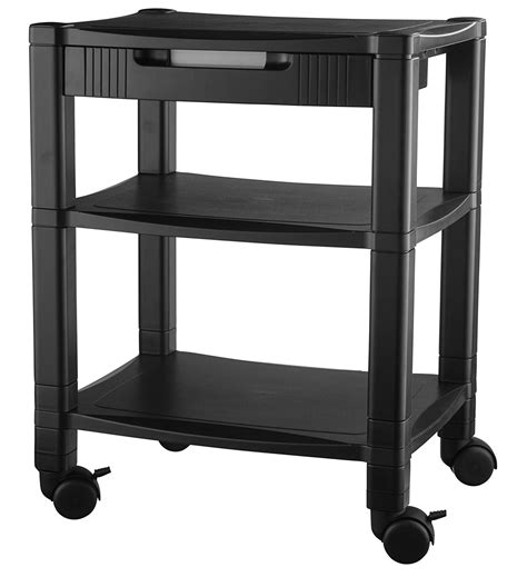 computer desk on wheels with top shelf best printer stand with wheels 2 tiers shelf small under