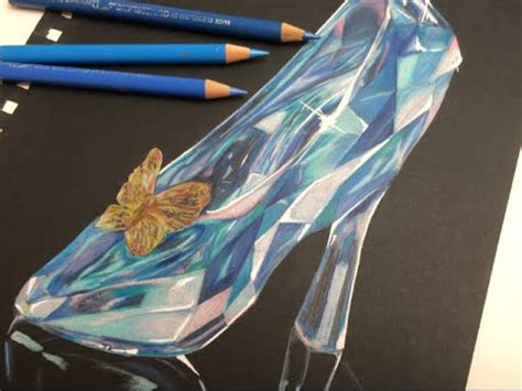 how to draw a glass slipper cinderella s glass slipper speed drawing