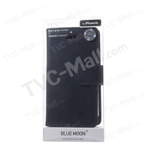 Iphone 4s Mercury Blue Moon Diary Casing Cover Hitam mercury goospery blue moon for iphone 4s 4 leather