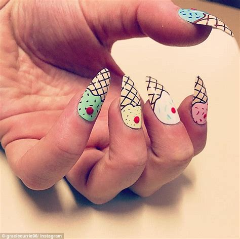 best stick on nails ice cream nail art is taking instagram and pinterest feeds