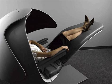 google chairs bizarre energy pod that keeps googlers refreshed