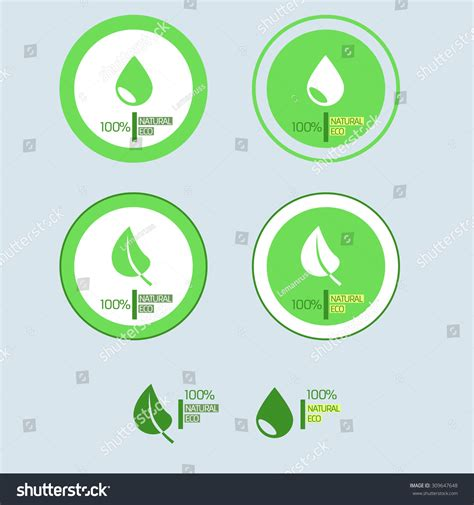 Ecology Green Label Eco Friendly Logos Droplet And A Leaf Of The Tree Environment Web Icons Ecology Green Icons Tree With Logo Vector Stock Vector Image 51156431