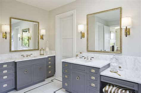 bathroom vanity hardware gray bathroom vanity with gold caign hardware