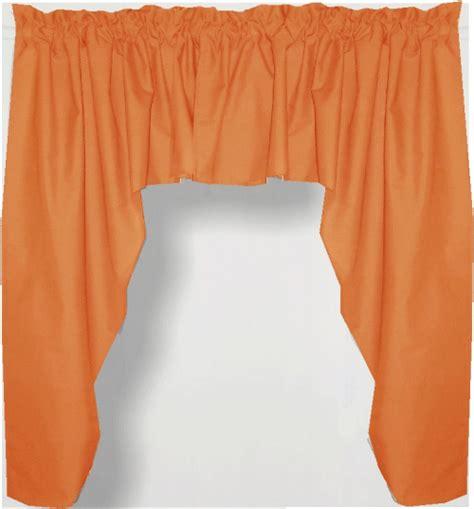 Valance Panel Orange Swag Window Valance Set