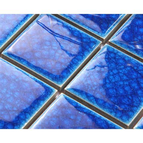 Copper Backsplash Tiles For Kitchen by Blue Porcelain Square Mosaic Tiles Design Crackle Glass