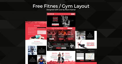 Fitness Website Template Cakewp Divi Layout Templates