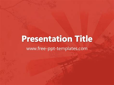 Japanese Powerpoint Template Japan Ppt Template