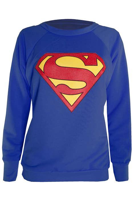 Sweatshirt Superman sleeve superman shirt womens batman
