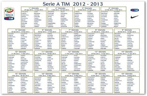 Calendrier Juventus Calendario Calcio Serie A 2012 2013 Ecco Tutte Le