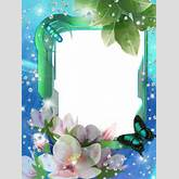 Frames with flowers photo pictures design frame png adver fl frame by ...