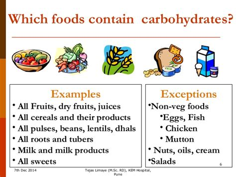 name 3 carbohydrates carbohydrate counting for insulin dose adjustment