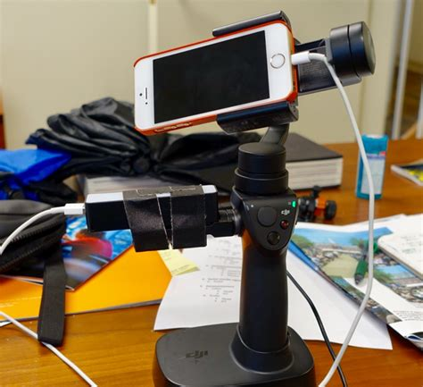 osmo mobile with external battery for phone attached setup exle dji forum