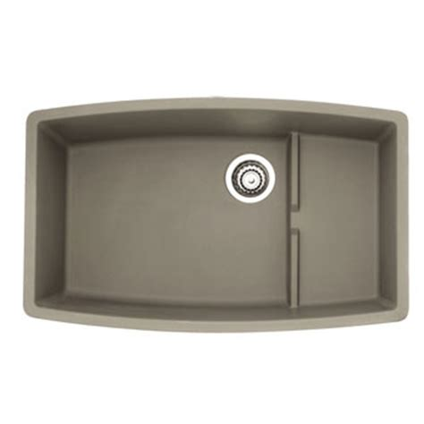 blanco silgranit kitchen sinks blanco 441291 performa silgranit ii cascade single