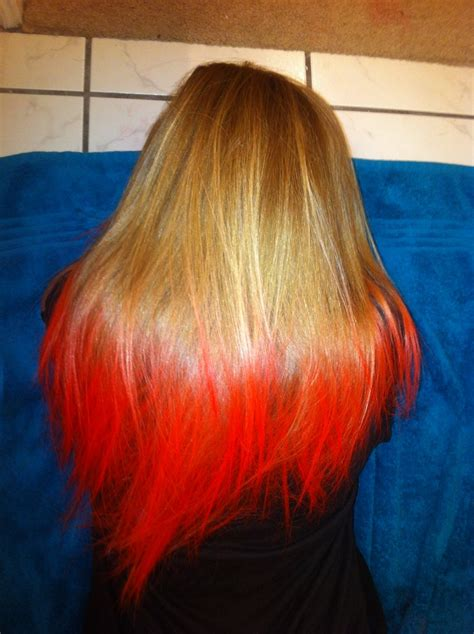 advice on hair colors 123beautysolution in halloween hair dyed blonde tips to quot rotten red quot temporary