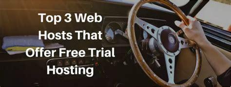 top  web hosts  offer  trial hosting