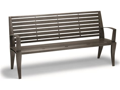 aluminium benches tropitone district 6 steel bench 4b1622d1113