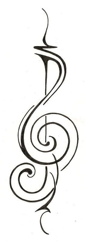 music tribal tattoos tribal note tattos notes