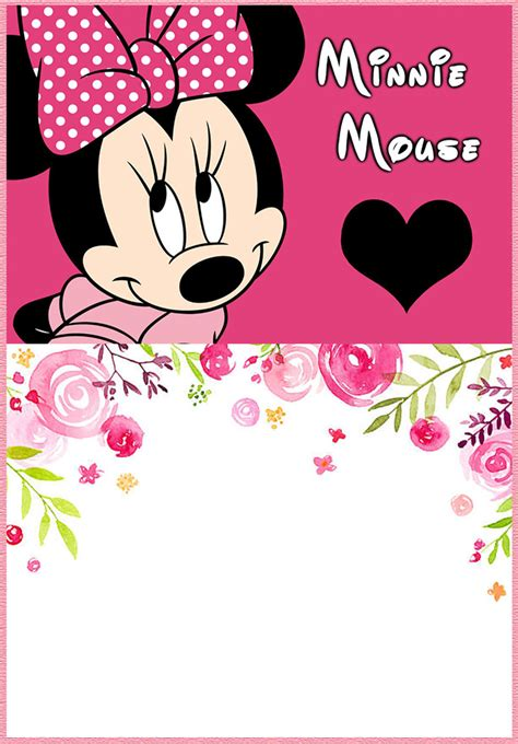 Minnie Mouse Template Invitation by Free Printable Minnie Mouse Invitation Templates Part 2