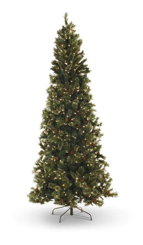 oregon pine 9 pre lit artificial christmas tree with led