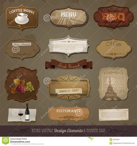 vintage classic design label elements vintage and retro design elements stock image image