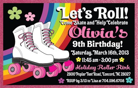 skating invitation template free roller skate birthday invitation rollerskate